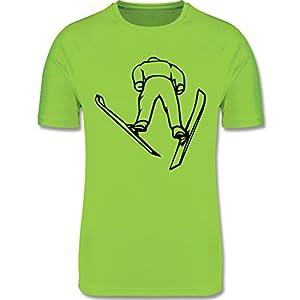 Sport Kind – Skisprung – atmungsaktives Laufshirt/Funktionsshirt für Mädchen und Jungen
