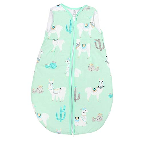 TupTam Baby Schlafsack Wattiert ohne Ärmel ANK001, Farbe: Lama Mint, Größe: 62-74