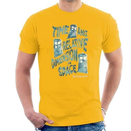 Warped Tardis Men's T-Shirt M (Tardis Kostüm Mädchen)