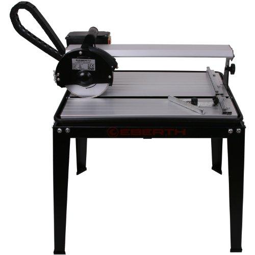 EBERTH 420 mm Fliesenschneider elektrische Fliesenschneidemaschine Nassschneider Trennmaschine (0° - 45° stufenlos schwenkbar, 25 mm Schnitttiefe, 2950 U/min, Winkelanschlag, Diamanttrennscheibe, Laser) schwarz