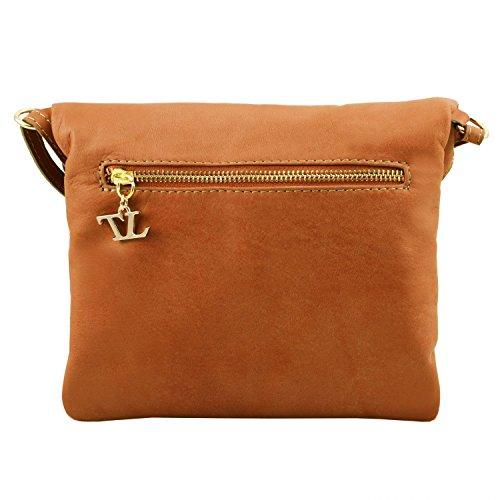 Tuscany Leather TL Young Bag Borsa a tracolla con nappa Rosso Rosso