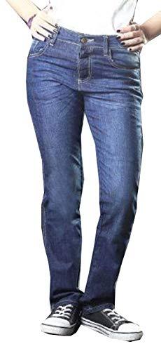 SGI-BIKE Damen DupontTM Kevlar® Motorrad Jeans Hose Motorradjeans mit 4X Protektoren (W36/L29)