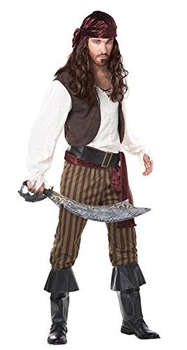Piratenkostüm für Erwachsene M (Schuhe Caribbean Pirate)