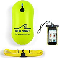 Swim Bubble for Open Water Swimmers and Waterproof Phone Case Bundle - Bubble Bundle Green