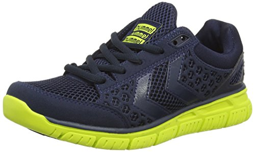 hummel HUMMEL CROSSLITE, Unisex-Erwachsene Sneakers, Mehrfarbig (Blue/Lime 1056), 46 EU