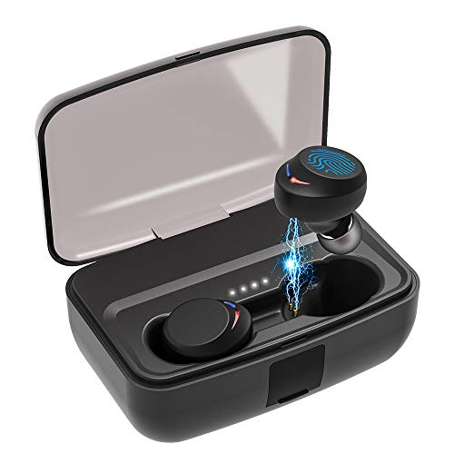 Sport Kopfhörer, Bluetooth Kopfhörer, AceScreen Bluetooth 5.0 HiFi Kopfhörer Wireless Kopfhörer IPX8 Wasserdicht Sport in-Ear Touch Control Noise Cancelling Kopfhörer Headphones 3000mAh Mini Ladebox