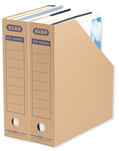 ELBA 100421086 Stehsammler tric system 12er Pack mit Archivaufdruck für Kataloge und Zeitschriften naturbraun