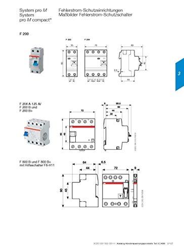 fi 10ma ABB Fi-Schutzschalter 2CSF204101R1400, 4-polig, F204A-40/0,03