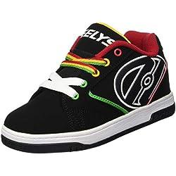 Heelys Propel 2.0, Chaussures Roue garçon, Noir (Black/Reggae), 33 EU