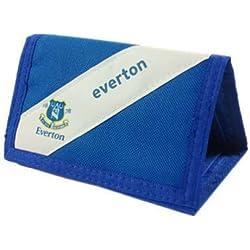 Everton FC oficial de rayas diseño con escudo de cartera de velcro, Azul/Blanco, Talla única
