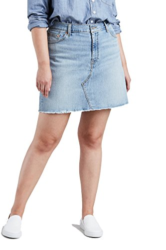 Levi's Para Mujer Plus Deconstructed Skirt Falda - Azul -