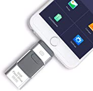 256 GB Flash Drive USB Memory Stick Disk 3 in 1 for Android/IOS iPhone PC