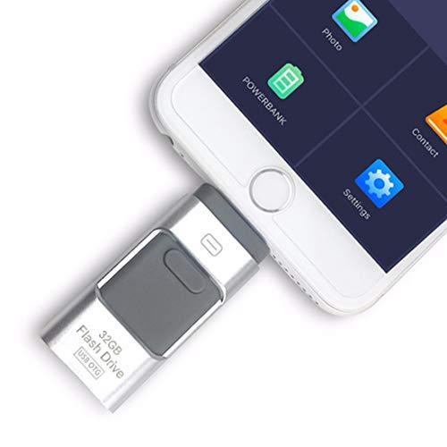 Metal 3in 1OTG pendrive ad alta velocità USB 3.0flash U disk drive memory stick penna USB per iPhone/iPad/Android/PC rosa 256 GB