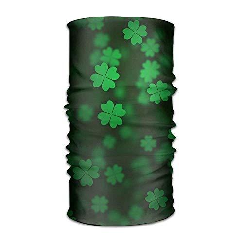 SJuczi Unisex Stylish Irish Shamrock Quick Dry Microfiber Headwear Outdoor Magic Bandana Neck Gaiter Head Wrap Headband Scarf Face Mask Ultra Soft Elastic Handscarf 9.8W x19.7L in -