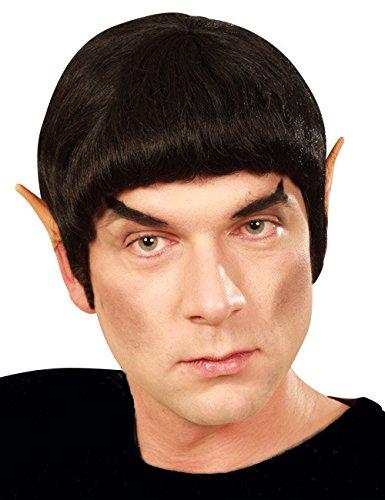 cke Herren mit Koteletten Schwarz Einheitsgröße (Star Trek Spock Perücke)