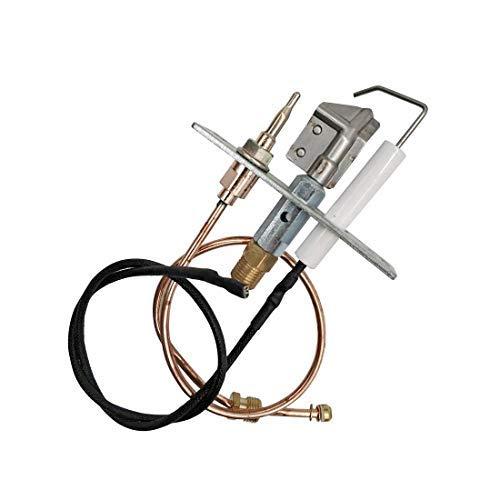 Meter Star Gas Durchlauferhitzer mit Thermoelement 0,3Meter und Draht 0,4Meter oder Sicherheit Pilot Brenner Kit für Kamin/Thermoelement Ende M9x 1 - Thermoelement-brenner