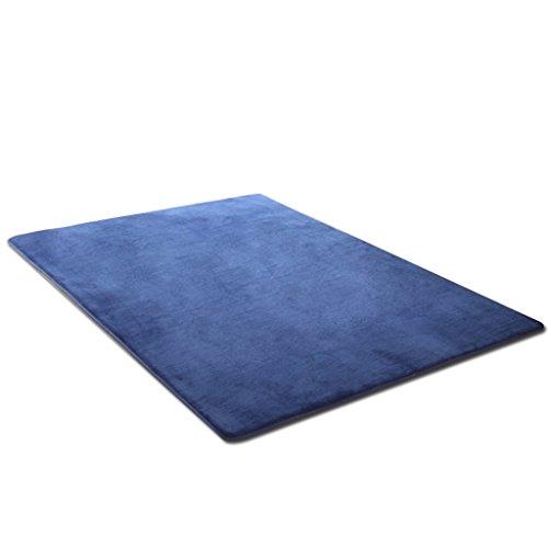Dark Multi Teppich (Teppich Wohnzimmer Teppich Sofa Tee Tischdecke Schlafzimmer Zimmer Nachtteppich Yoga-Matte Multi-Size A+ (Color : Dark Blue, Size : 200x300cm(79x118inch)))
