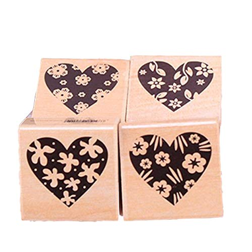 L_shop Grußkarte Stempel Blume Liebe Herz Muster Scrapbooking Stempel Karte, die Dekoration DIY Stempel - Distress Papier