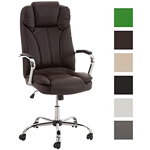 CLP Comfortable XXL Heavy Duty Office Chair XANTHOS, Top Quality Upholstery, Weight Capacity: 210 kg, up to 6 colours to choose brown
