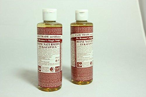 Dr. Bronner's Liquid Soap Eucalyptus, Flüssigseife Eukalyptus 236 ml 2er SET -