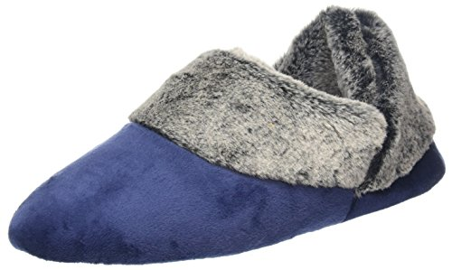 Velour Bootiew basse Donna Frosted Blue Peacoat Cuff Dearfoams Pile Sneaker ZwpwqPg