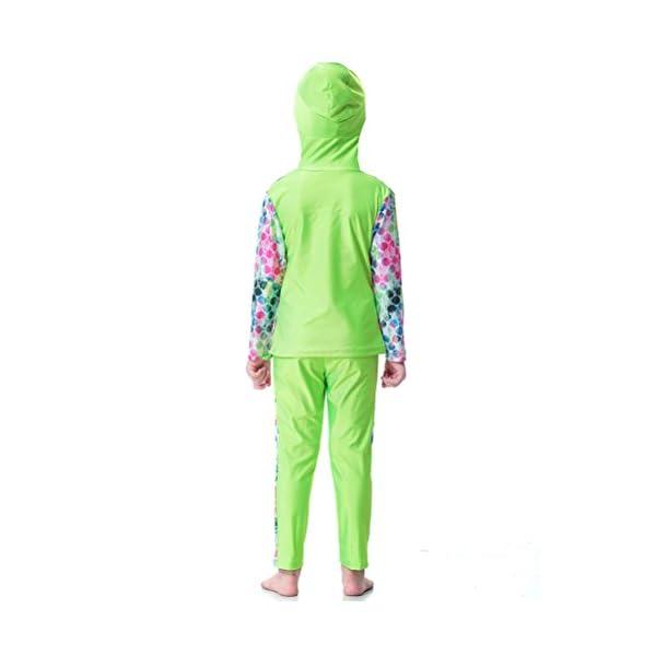 Zhhlaixing Impression Modestie Maillots de bain Full Length Musulman Encapuchonné Maillot de Bain Beachwear pour les Filles Hijab