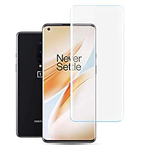 CASE U Tempered Glass for OnePlus 8 Advanced Border less Full Edge to Edge UV Screen Protector with installation kit