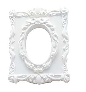 Cadre Baroque fenêtre ovale en plâtre à Décorer - Loisirs Créatifs DTM