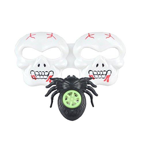 Kostüm Whistle - BESTOYARD Halloween Party Brille Schädel Brillen Kinder Lustige Neuheit Sonnenbrille mit Spider Whistle Sets oder Halloween Party Favors Kostüm Requisiten