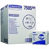 Kimtech 7505 Essuie-Mains Absorbants, 20 x 50Formats, Blanc (Pack de 20)