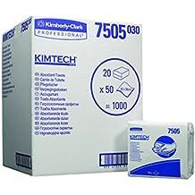 Cambiador desechable para una higiene perfecta. KIMTECH* Toallas Absorbentes Interplegadas (código 7505) 50 toallas de color blanco por bolsa