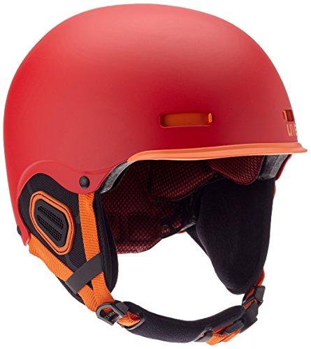 Uvex hlmt 5 core Skihelm, Red-Orange Mat, 52-55 cm
