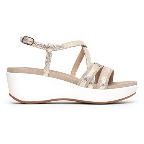 Nero Giardini Sandalo Donna MOD. P805700D Platino 40