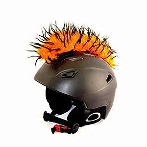 Helm-Irokese für den Skihelm, Snowboardhelm, Kinderskihelm, Kinderhelm, Motorradhelm, Fahrradhelm – auffälligere Helm-Aufkleber, Helmdeko für Kinder und Erwachsene – riesige Farbauswahl