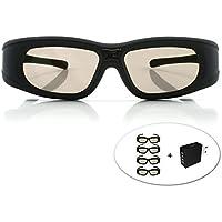 """Gafas 3D DLP-Link """"Wave Xtra"""" - 4 x Gafas con cargador USB 4 puertos - Full HD 1080p - Triple Flash 144Hz - Con todos los proyectores 3D DLP"""