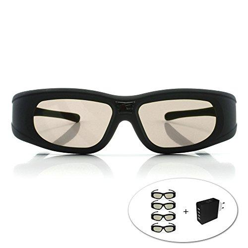 lunettes-3d-dlp-link-wave-xtra-4-paires-de-lunettes-3d-avec-chargeur-4-ports-full-hd-1080p-compatibl