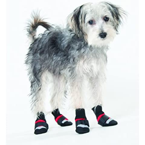 Fashion Pet Lookin Good Extreme All Weather Boots for Dogs, XXX-Small, Red by Fashion Pet