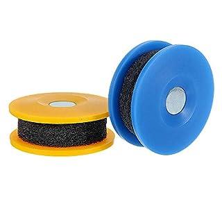 Nan zheng Rad Fahrradkette Reinigung Schleifwerkzeug Tragbare Fahrradkette Ölen und Reinigen Schleifscheiben Discs (Farbe : Blue)