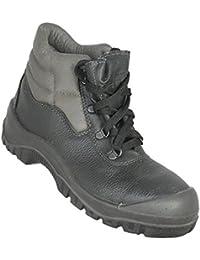 Année-lumière - Chaussures De Protection Homme Noir En Cuir Noir, Couleur Noir, Taille 38