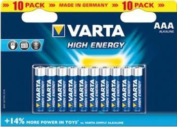 Varta High Energy 04903121461 LR 03 AAA Alkaline-Batterien, 1-er Pack (1 x 10 Stück)