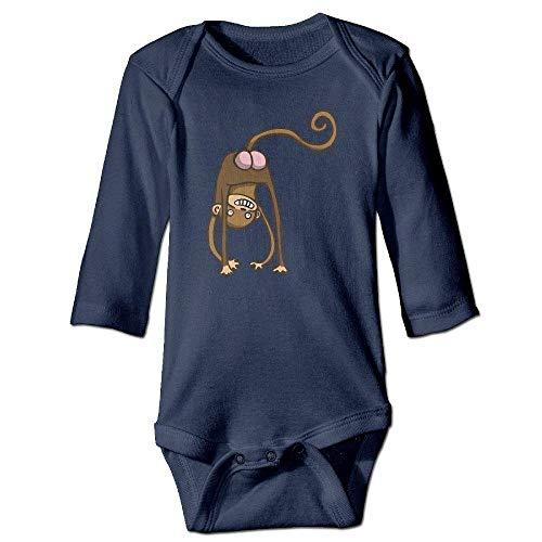 Jamie clanton Infant Funny Monkey Ass Langarm Strampler Strampler Body Jumpsuit Monkey Infant Bodysuit