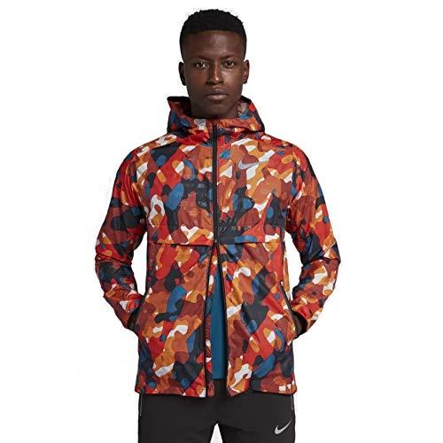 Nike Herren Shield Ghost Camo Jacke, Habanero Red/Black, M