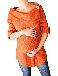 ead001878aa2 BoBo-88 Vestiti Premaman Ladies Sweater Women Knitted Button Pregnancy  Unique Stlie Maternity Maglione Top