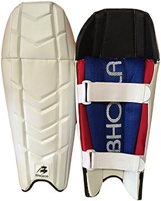 Cricket Wicket manteniendo almohadillas/protectores de pierna, talla para hombre diestros, ligera, nivel de protección normas de ensayo