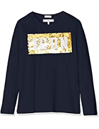 f7c353ea4b8e78 Tommy Hilfiger Girl s Sequin Tommy Icon Tee L S Long Sleeve Top