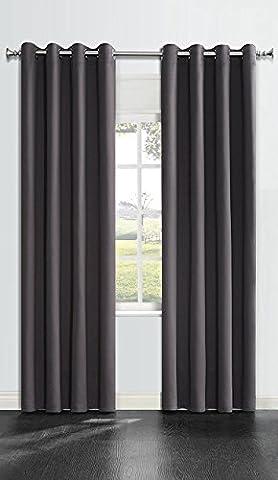 OnlyYou Blackout Curtain 2 Piece 135 x 183 cm - Dark Grey - Camo Tenda Oscurante