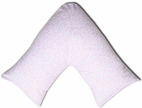 JaaZ Textile 100% algodón percal _ patrón 10_ impreso V forma de almohada casos ideal para espalda...