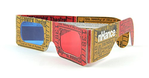 DOMO nHance RB6B Anaglyph Passive Cyan and Magenta Red and Blue Paper 3D Video Glasses (Pack of 4 pcs)  available at amazon for Rs.129