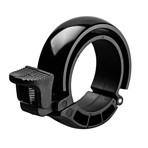 SGODDE Fahrradklingel Laut, O Design Fahrradglocke Radfahren Fahrrad für Alle Fahrrad (3 Farben,Lenker Alarm Horn Ring 22,2-31.8mm) (Schwarz)