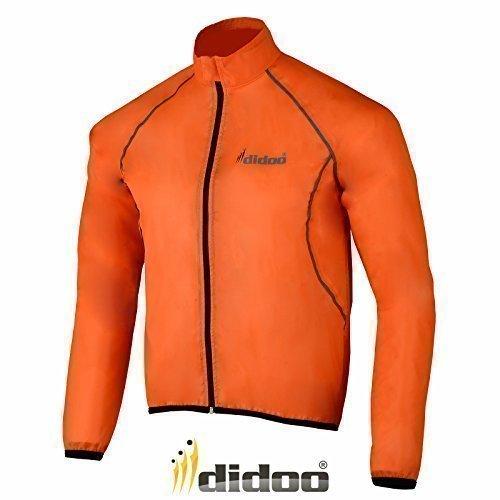 Didoo Hommes Veste Cyclisme Haute visibilité imperméable Haut Course Veste imperméable Hi viz